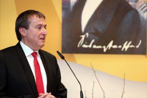 Dr. Theophil Gallo, Vorsitzender Siebenpfeiffer-Stiftung, freute sich über die große Resoannz beim Festbankett 2016